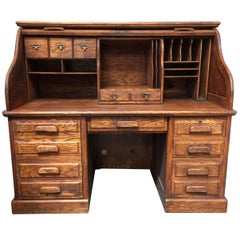 Mission Style Hardwood Roll Up Computer Desk by Stuarts