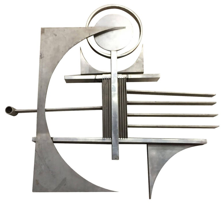 Steel Wall Form : Free form metal art wall sculpture for sale at stdibs