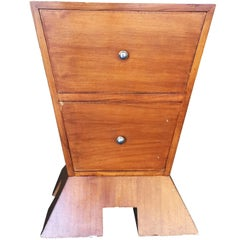 Modernist Mid-Century Inverted Triangle Bedside Table **Saturday Sale**