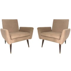 Pair of Midcentury Structural Lounge Chairs in the Manner of Paul McCobb