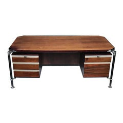 Rosewood Executive Desk by Luisa and Ico Parisi for MIM Roma, Italy, 1950s