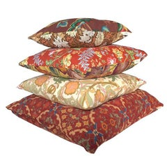 Orange Floral Earth Colours Bohemian Regency Heritage Vintage Cushion Collection