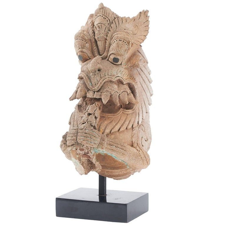 Indian Vyali Clay Figure 18th Century For Sale at 1stdibs