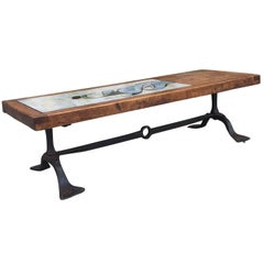 Incredible Custom Coffee Table Base with Inset by Pierre Saint Paul, circa 1960s