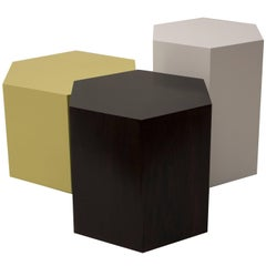 Set of Three Hexagonal Cluster Side Tables