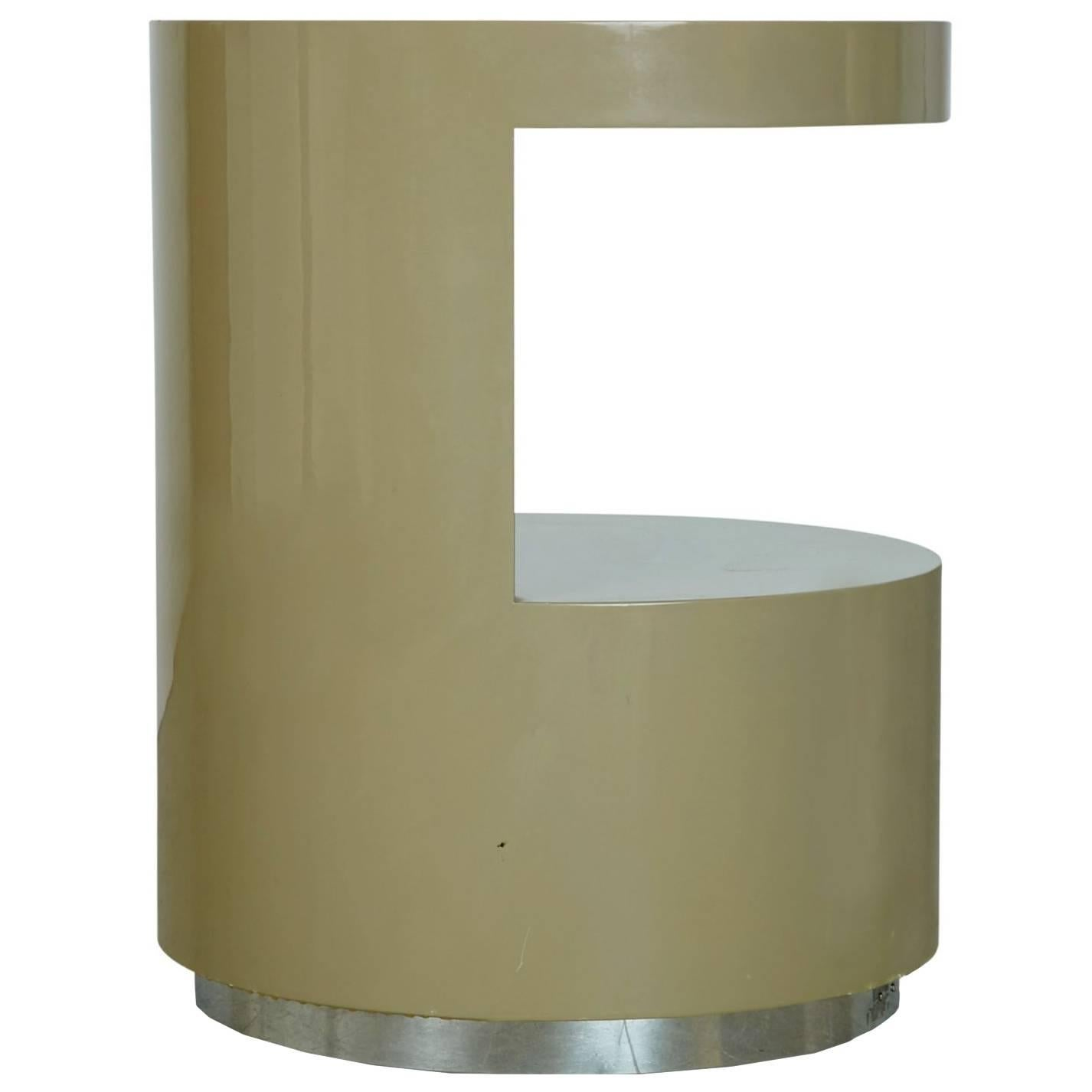 Lacquered Cut Out Side Table By Steve Chase From Chase Designed Home