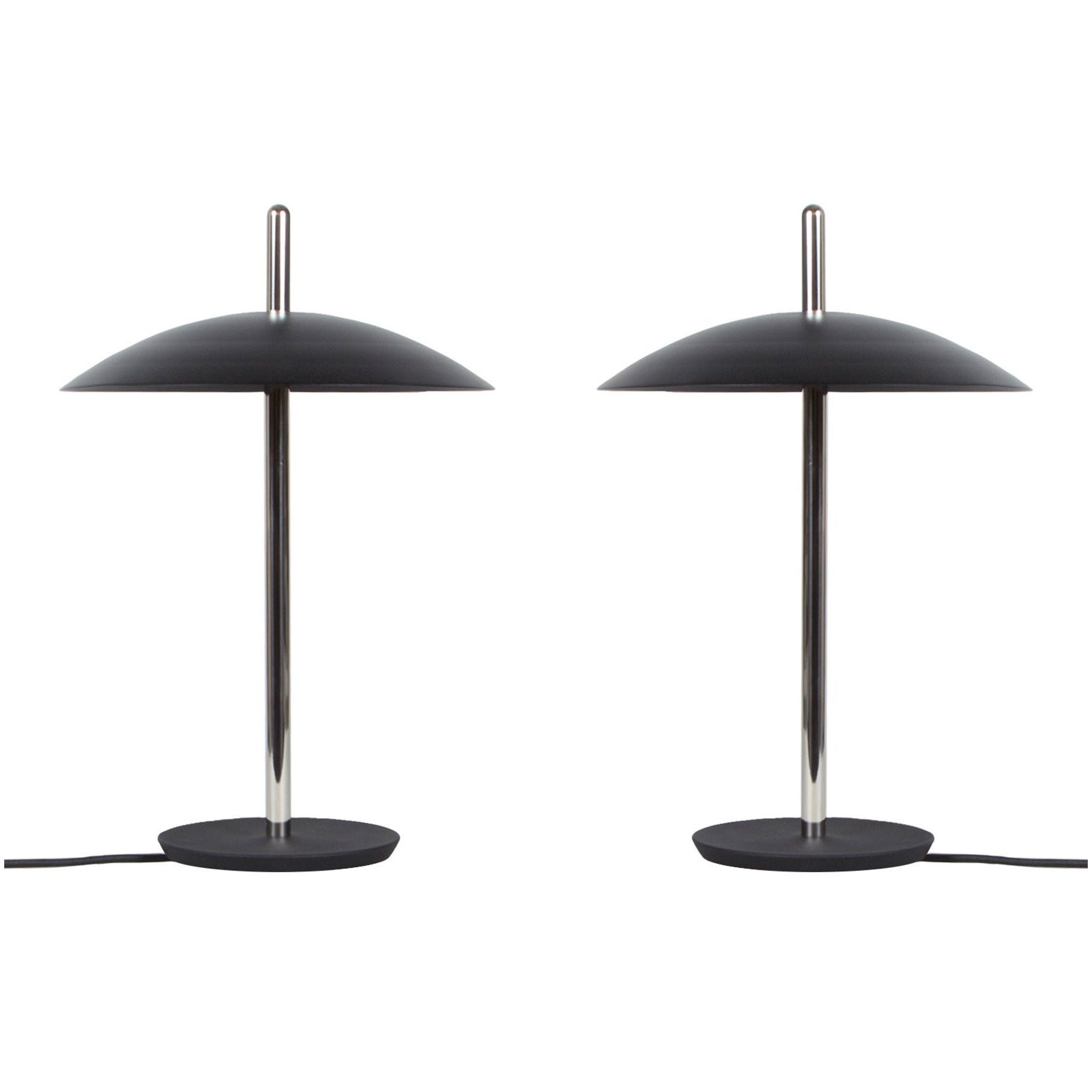 Customizable Pair of Signal Table Lamps from Souda, Black/Nickel, Made to Order