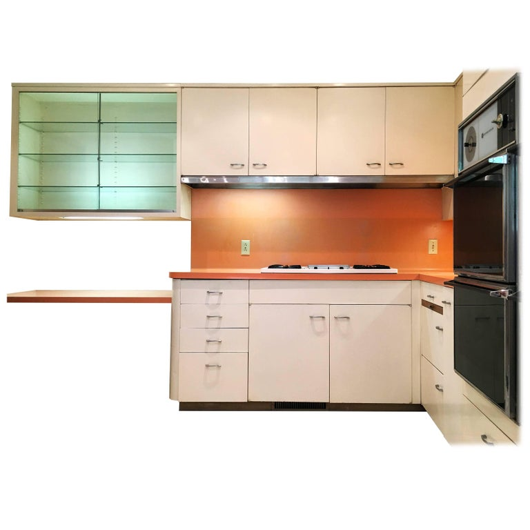 Entire St Charles 1960s Mid Century Modern Kitchen And Pantry For