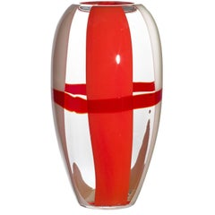 Ogiva Carlo Moretti Murano Contemporary Mouth Blown Glass Vase
