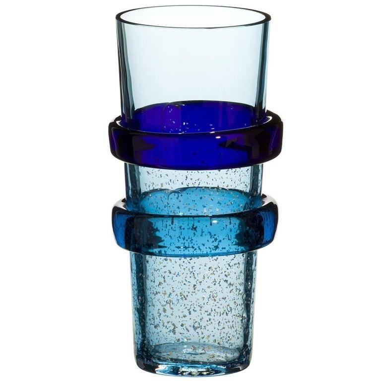 Kappa Carlo Moretti Contemporary Mouth Blown Murano Glass Vase