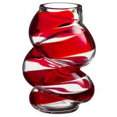 Marti Carlo Moretti Contemporary Mouth Blown Murano Glass Vase