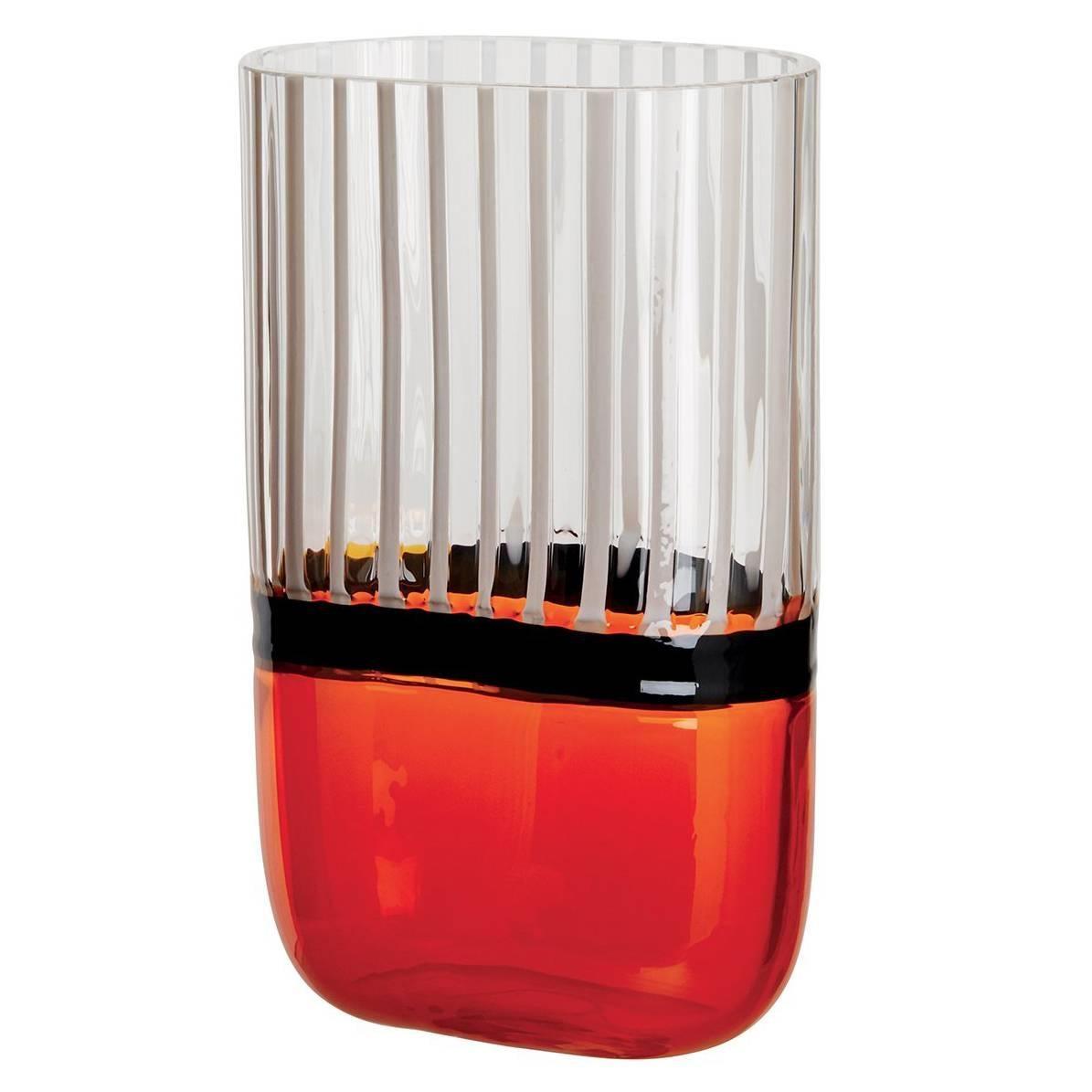 Naran Carlo Moretti Contemporary Mouth Blown Murano Glass Vase