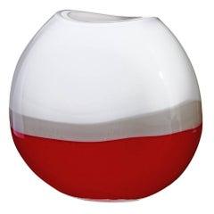 Monde Carlo Moretti Contemporary Mouth Blown Murano Glass Vase