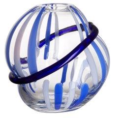 Nakya Carlo Moretti Contemporary Mouth Blown Murano Glass Vase