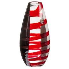 Novel Carlo Moretti Contemporary Mouth Blown Murano Glass Vase