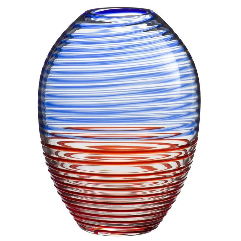 Orion Carlo Moretti Murano Contemporary Mouth Blown Murano Glass Vase For Sale