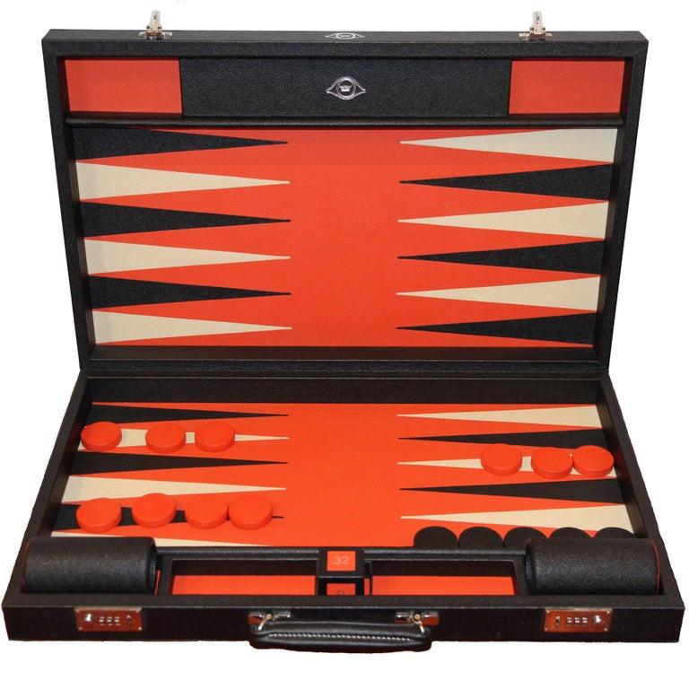 Geoffrey Parker Custom-Leather Backgammon Set