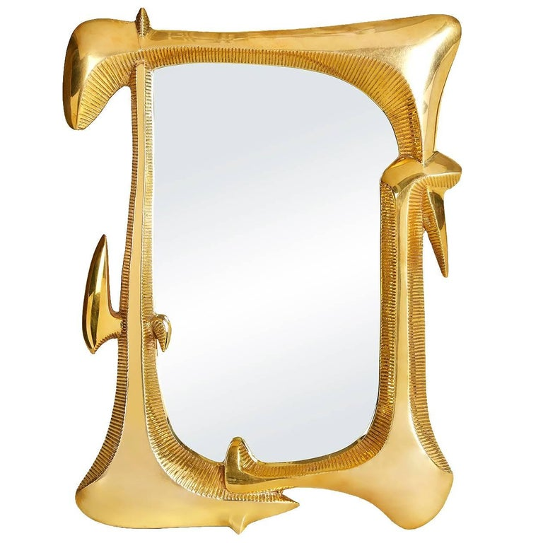 Reform cast brass mirror for sale at 1stdibs for Mirror mirror cast
