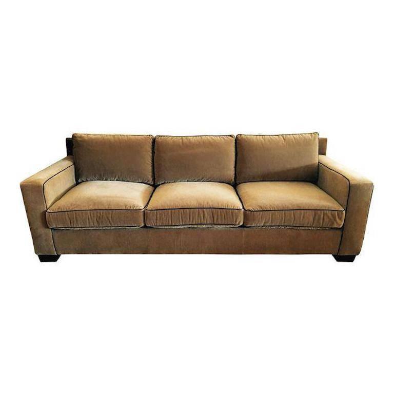 Attractive Ralph Lauren Mohair Graham Sofa For Sale