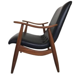 Mid-Century Modern Lounge Chair by Louis Van Teeffelen for Wébé, 1960s
