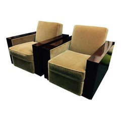 Pair of Ralph Lauren Modern Metropolis Club Chairs