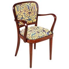 Mid-Century Modern Gio Ponti Manner Armchair, Walnut, Restored, Finished Wax