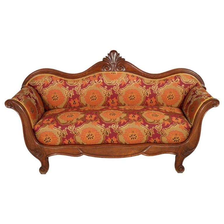 Mid-19th Century Empire Venetian Sofa Attributable Valentino Panciera Besarel