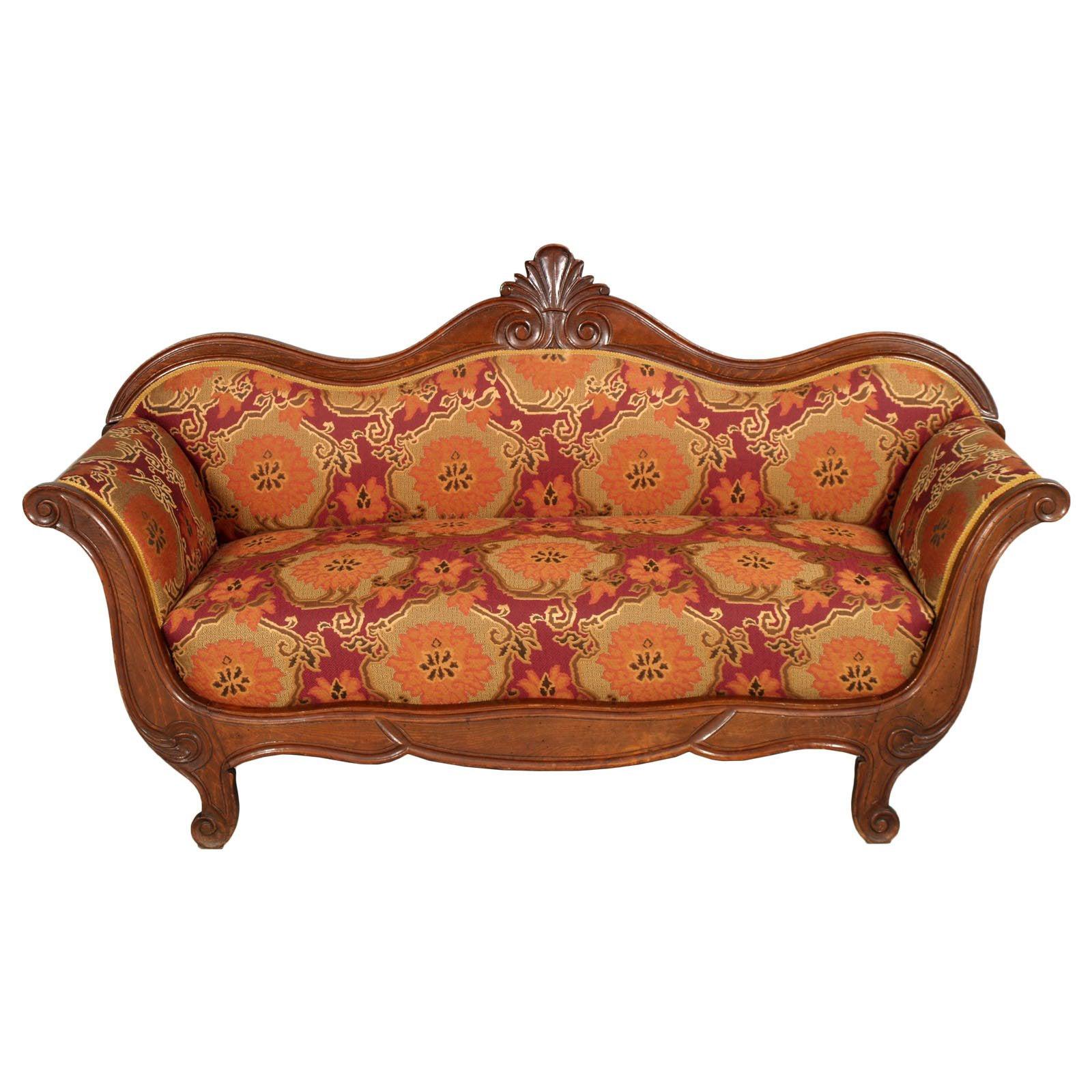 Mid-19th Century Empire Venetian Sofa Attributable Valentino Panciera Besarel