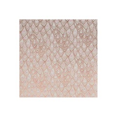 Boho Diamond Screen Printed Wallpaper in Metallic Copper, Blush on Snow