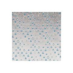 Boho Diamond Screen Printed Wallpaper in Metallic Silver and Fairy Blue on Snow