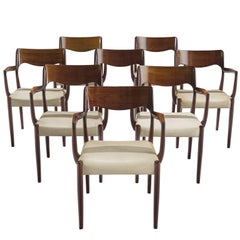 Set of Eight Danish Dining Chairs
