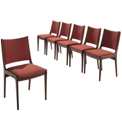 Danish High Back Rosewood Dining Chairs, 1960s