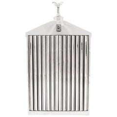 1960s Chrome Rolls Royce Radiator Grill Decanter