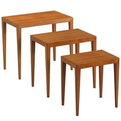 Severin Hansen Nesting Tables in Teak, 1950s