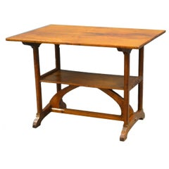 Peter Walls. A Petite Walnut Cotswold School Arts and Crafts Handmade Side Table