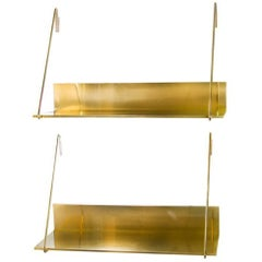 Solid Polished Brass Shelf MMXVI CS