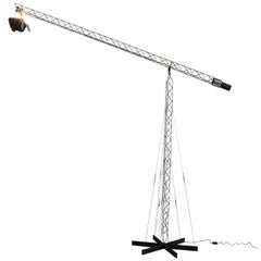 Curtis Jeré Crane Floor Lamp in Steel