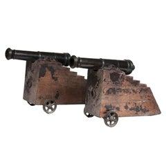 Pair of Regency Bronze Signalling Cannons