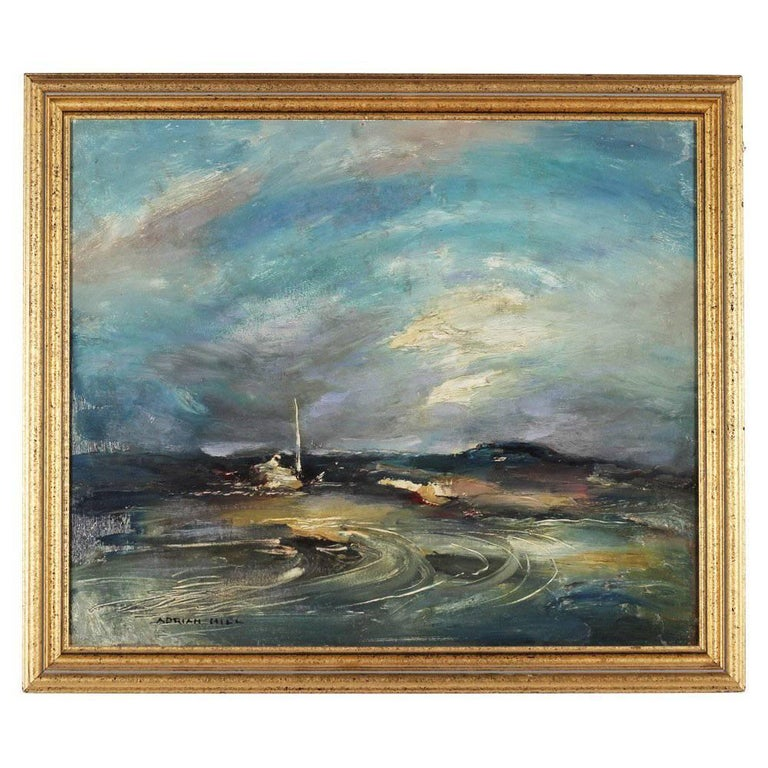 Oil Painting entitled Retreating Storm by Adrian Keith Graham Hill
