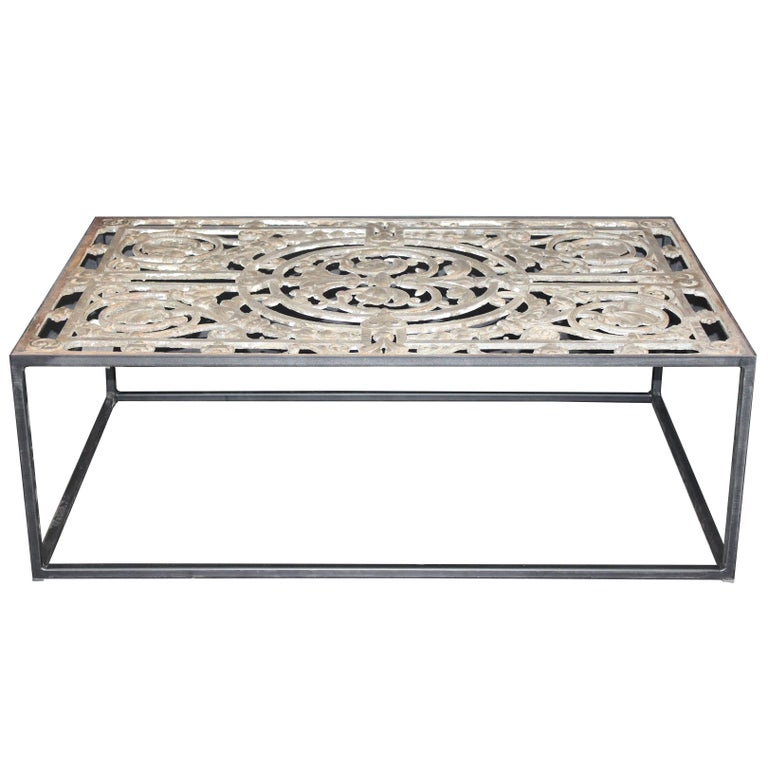 Nice Cast Iron Coffee Table Made From A 19th Century Fence At 1stdibs