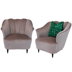 Pair of Scallop Back Chairs