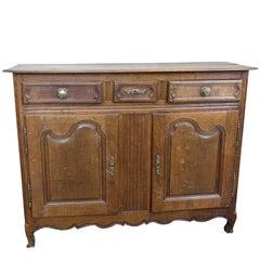Louis XV Style  Rustic Oak Buffet