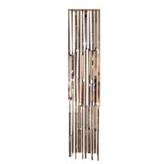 Crystal Fall Glass Silver Stripe Curtain or Glass Silvered Lighting Cascade