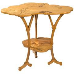 "Emile Gallé French Art Nouveau Wooden ""Ombelle"" Table"