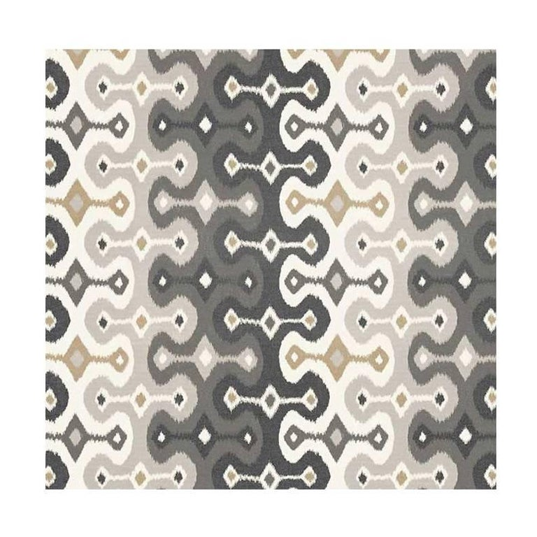 Schumacher Martyn Lawrence Bullard Darya Ikat Sidewall Striped Stone Wallpaper