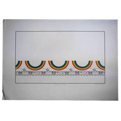 "Patrick Hughes ""Rainbows on a Train"", 1980"
