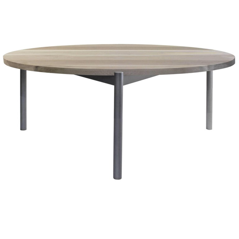 Phebe Modern Oak Timber Coffee Table Square Timber Top: Mix Contemporary Cocktail Table With Wood Top For Sale At