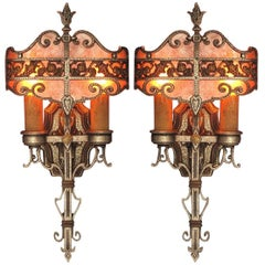 1920s-1930s Tudor, Revival Style Sconces Original Finish