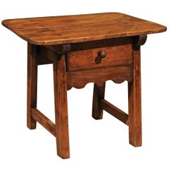 19th Century Pine Shepherds Table from Spain