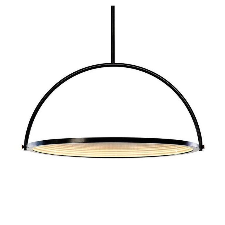 Oblio Mirrored Suspension Lamp For Sale